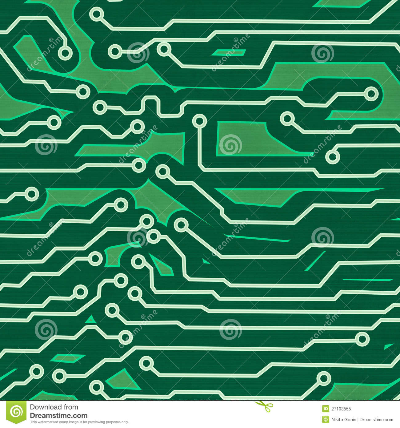 green computer circuit board seamless background