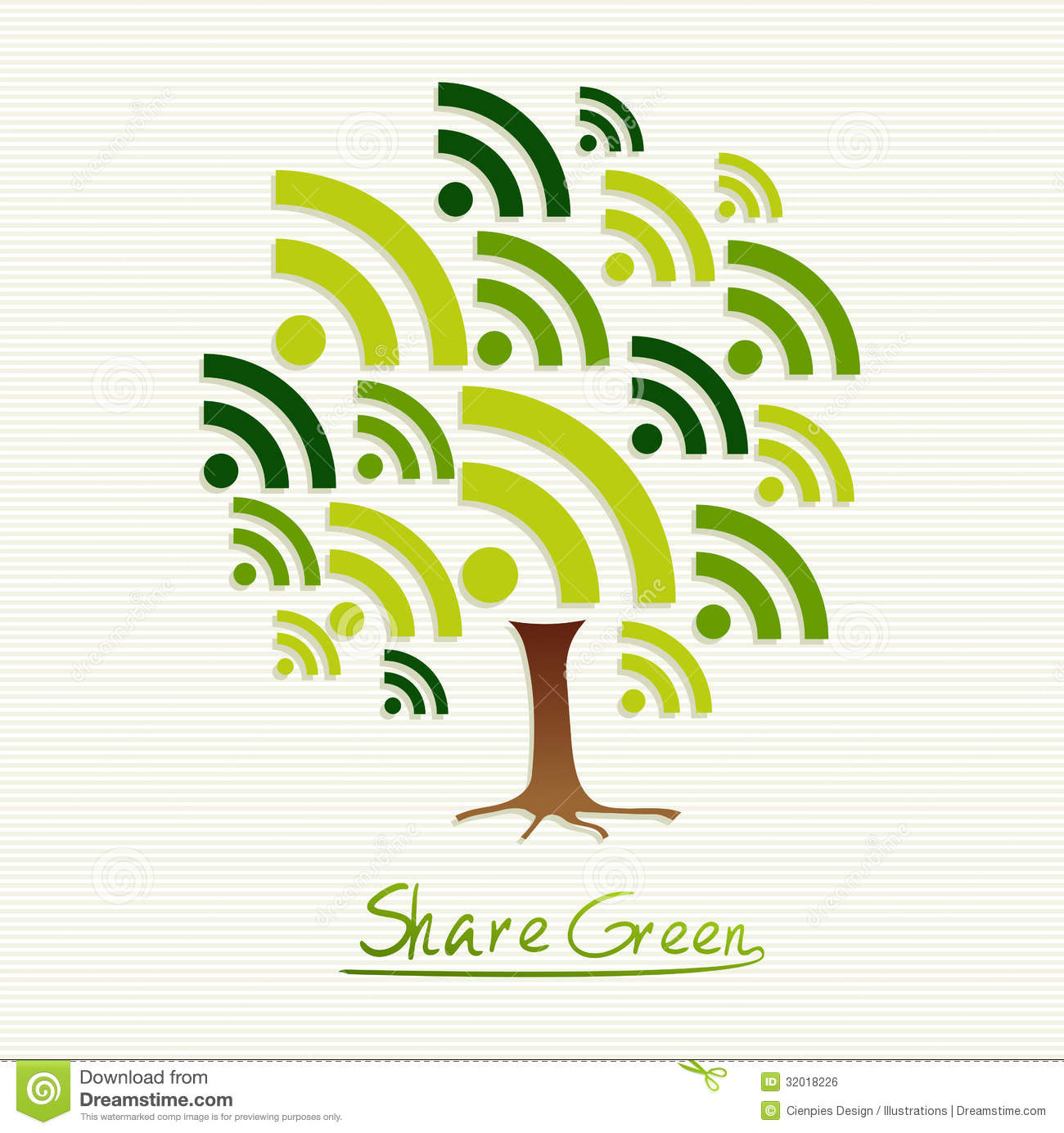 Green Concept Share Icon Tree Stock Vector - Illustration of green ...