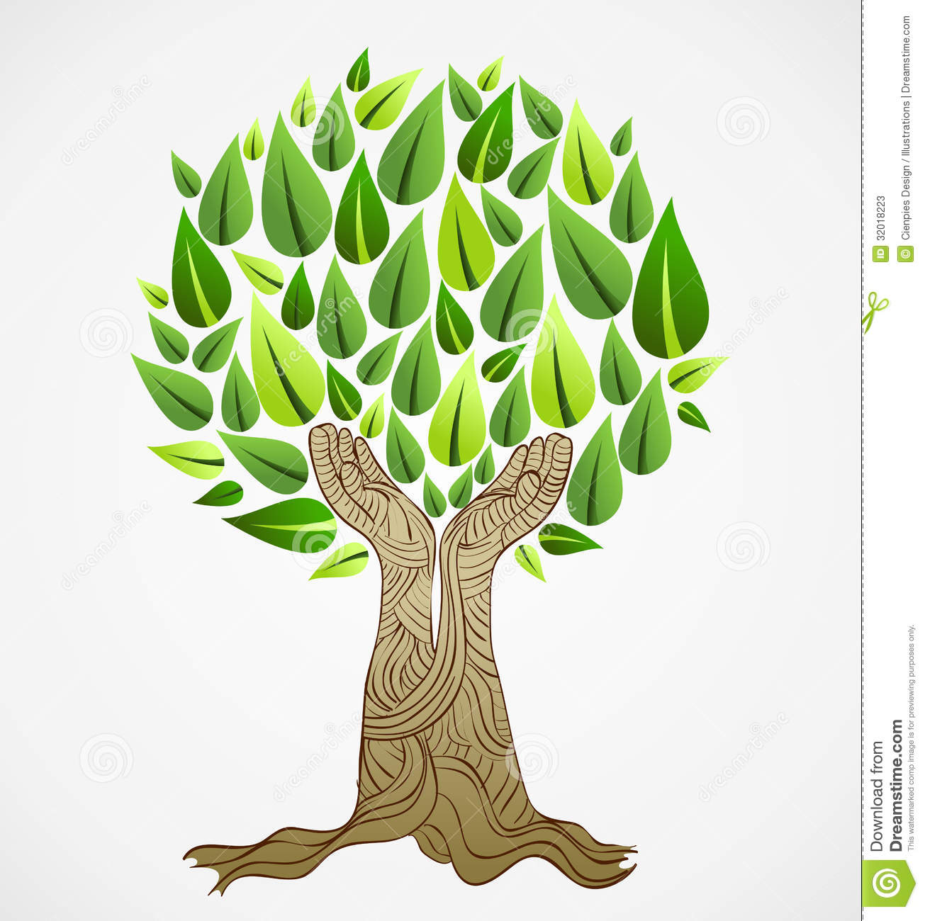 Green concept tree stock vector. Illustration of crown - 32018223