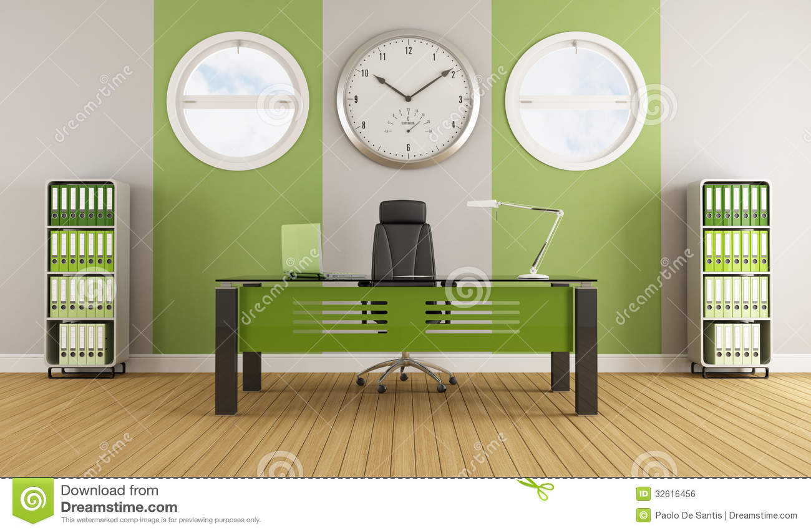 green contemporary office stock illustration illustration of