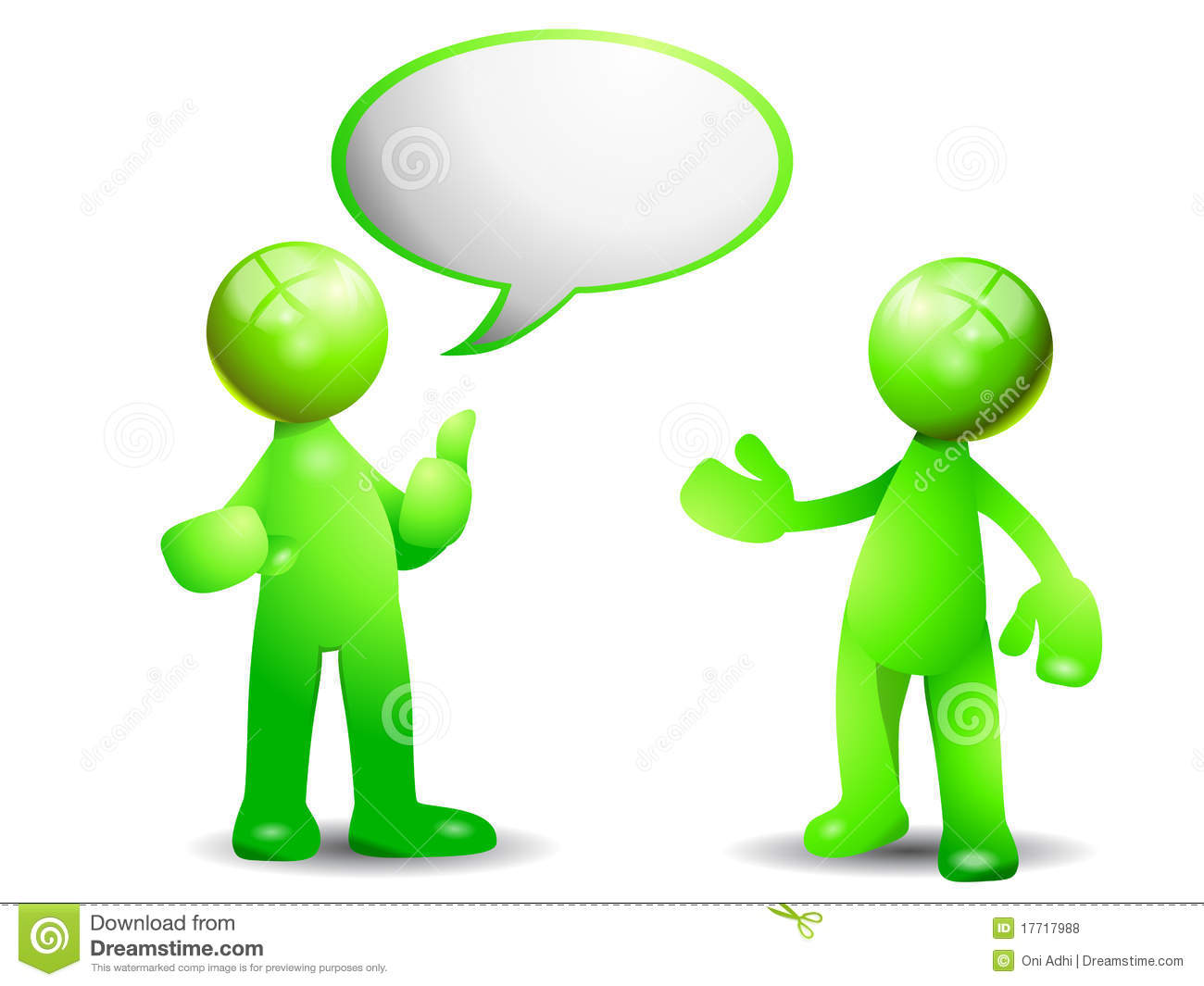Green Conversation Royalty Free Stock Photos - Image: 17717988