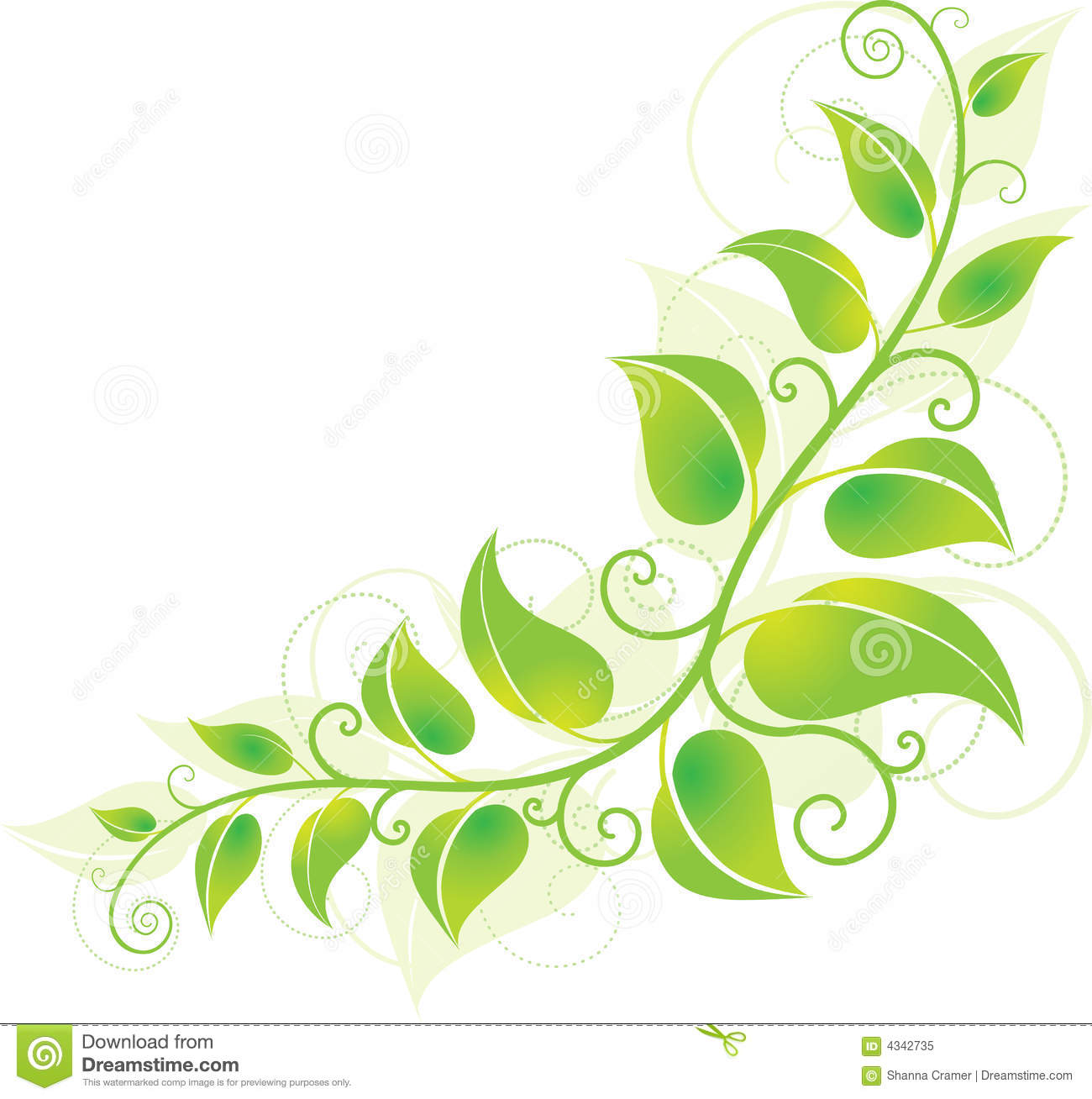 Green Corner Vine Royalty Free Stock Photo - Image: 4342735