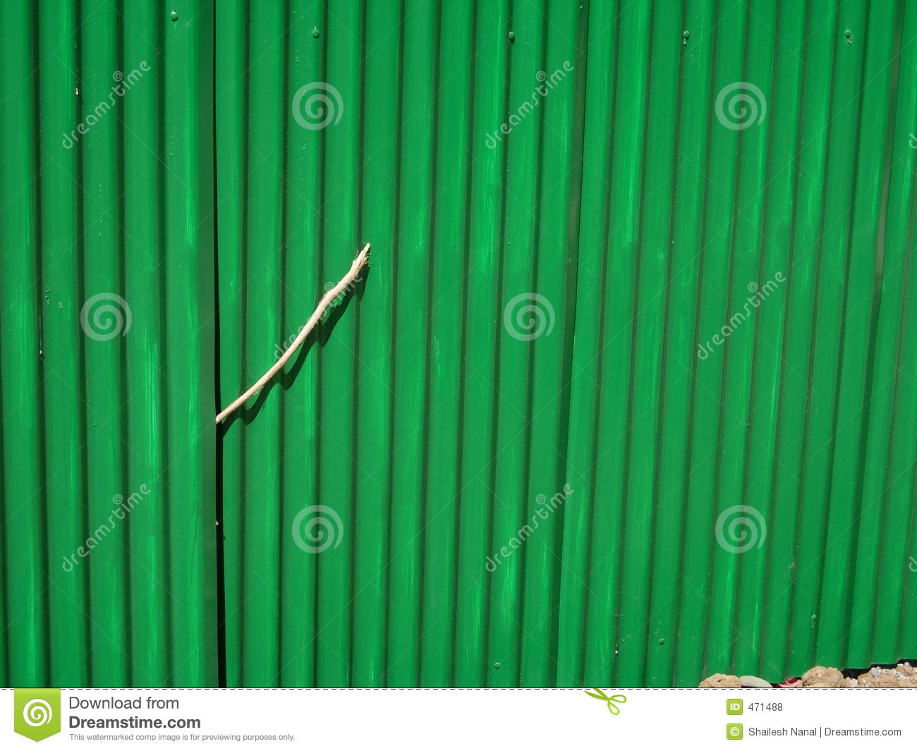 Green Corrugated Fencing