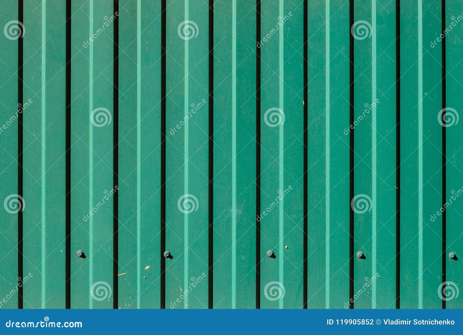 Green Corrugated Metal Panel Texture Stock Photo Image