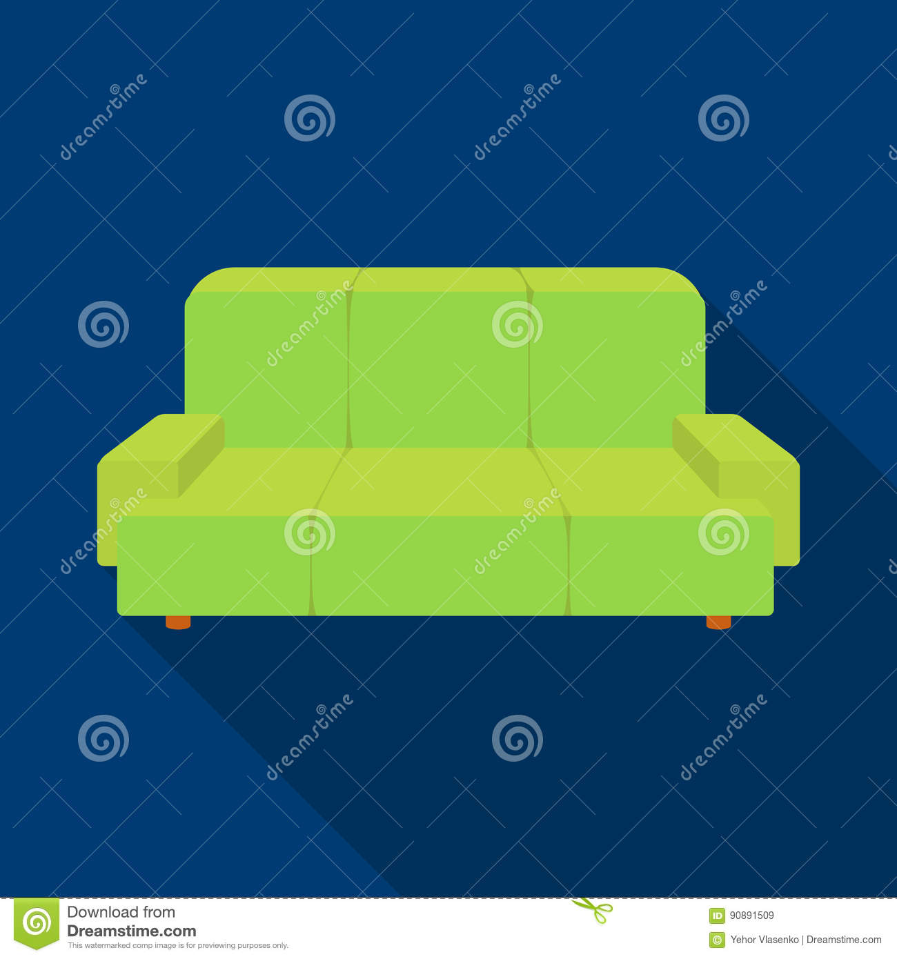 Background Couch Flat Furniture