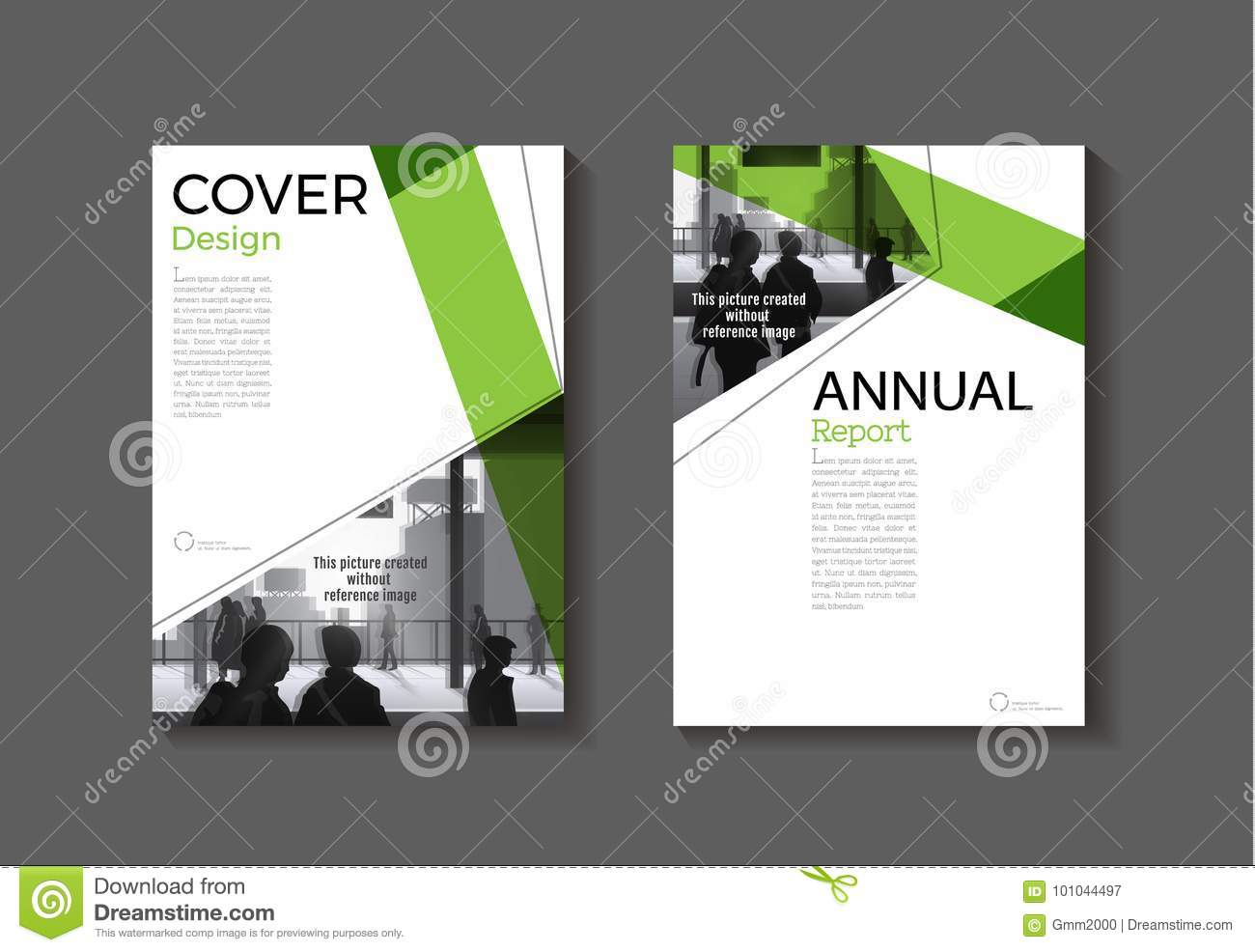 green cover abstract modern cover book brochure template desig
