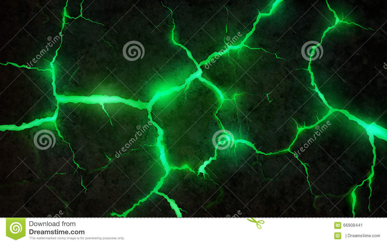 Green Cracks Background Stock Illustration Image 66908441