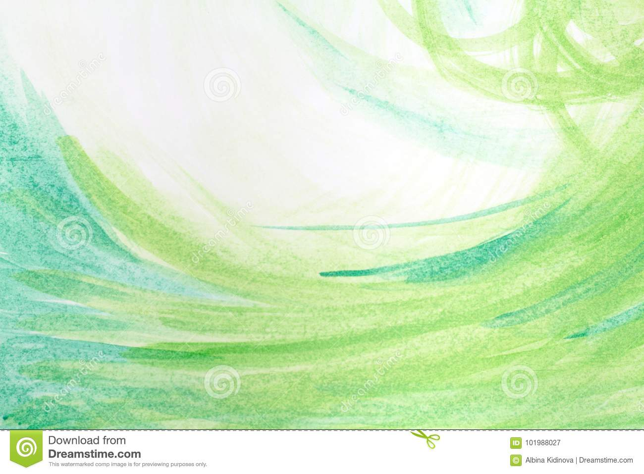 Green creative abstract hand painted background, wallpaper, texture, acrylic painting on canvas. Modern art. Contemporary art.