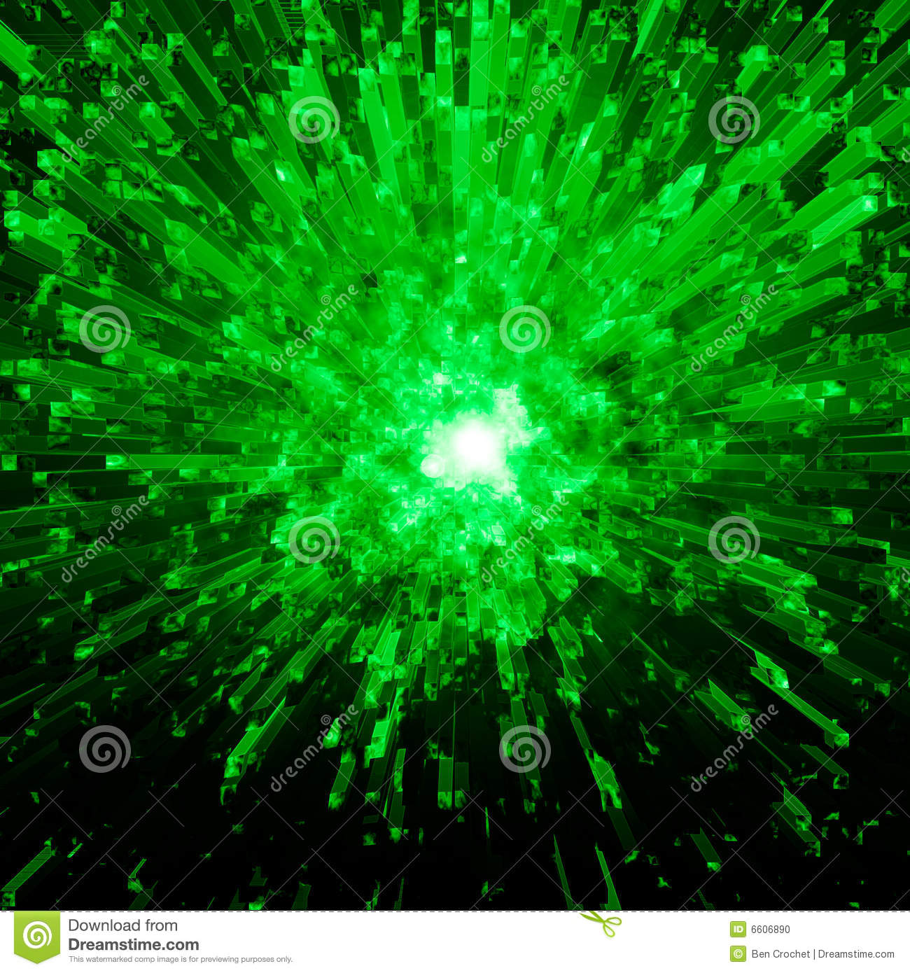 Green Crystal Explosion Stock Photo Image 6606890