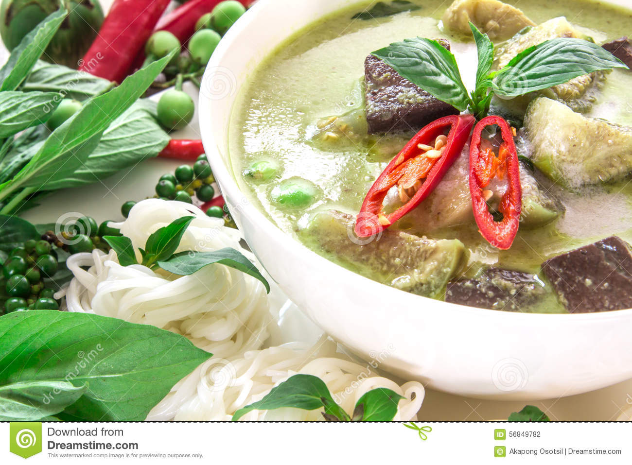 Green chicken curry popular thai food cartoon vector for Cuisine on the green