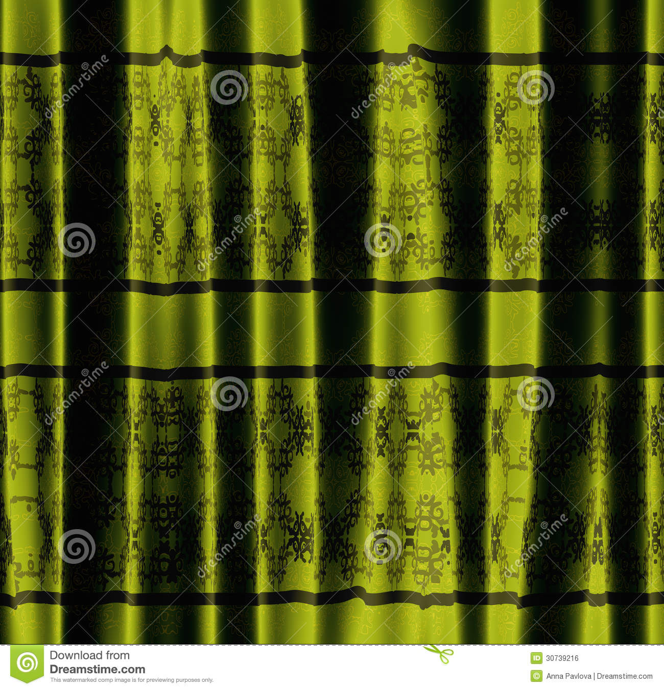 Green curtain with pattern royalty free stock image image 30739216 - Green curtain patterns ...