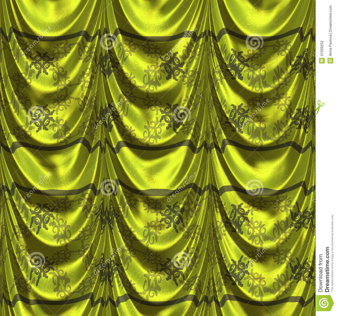 Green curtain with pattern stock photography image 31039252 - Green curtain patterns ...