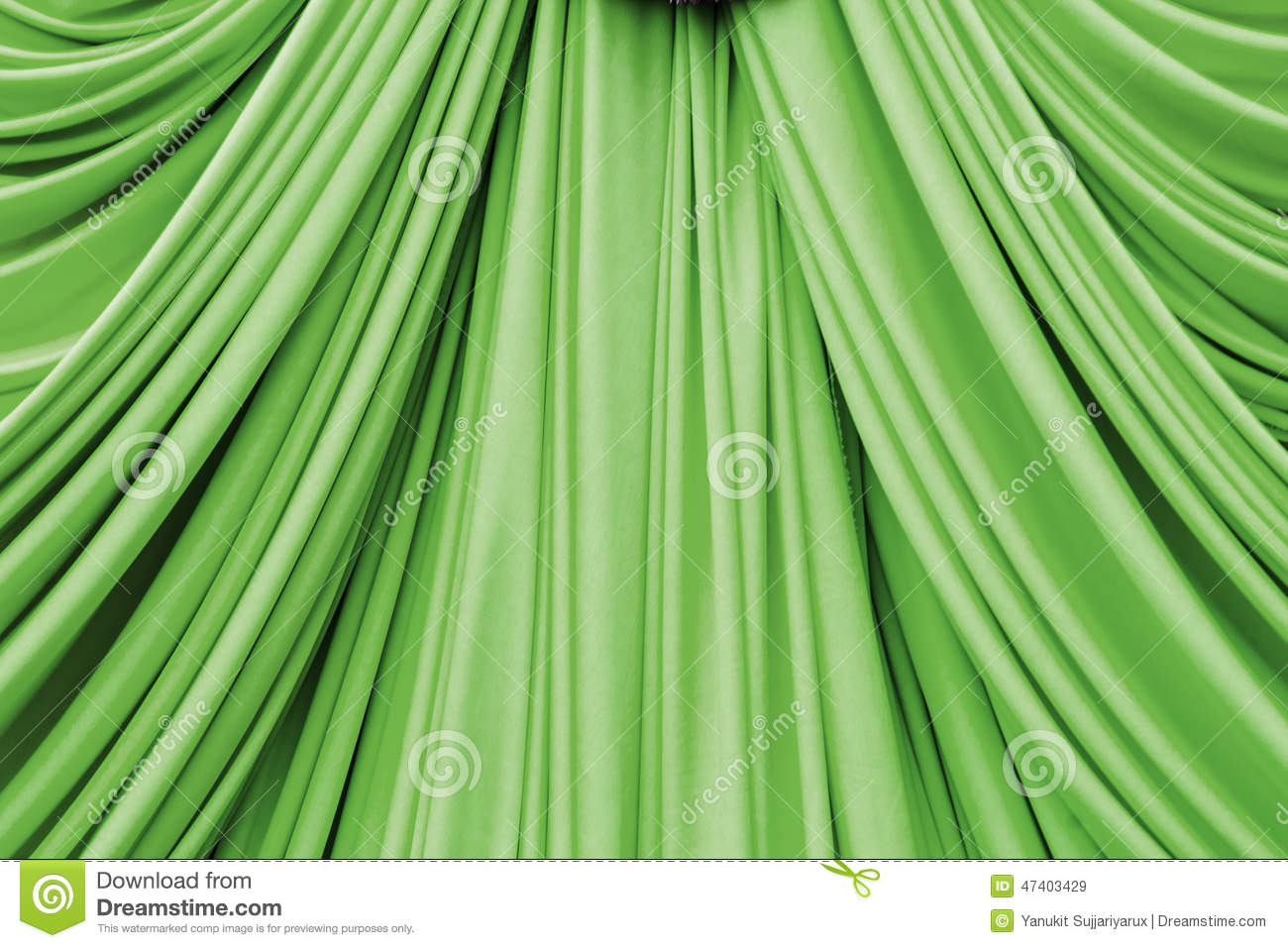 Royalty Free Stock Photo. Download Green Curtain ...