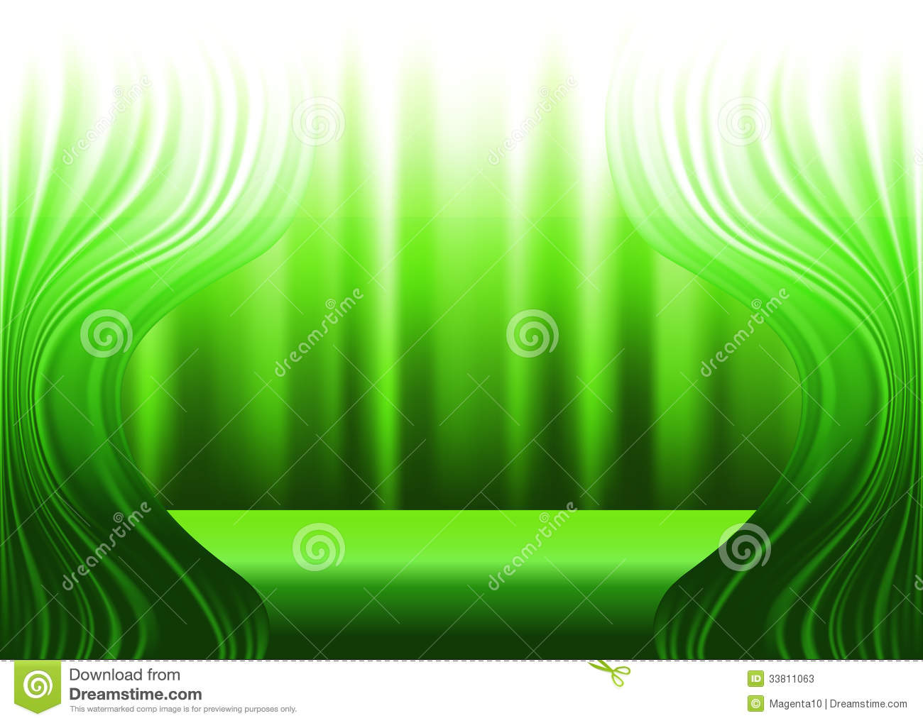 Green stage curtains - Background Curtains Drapes Green Stage