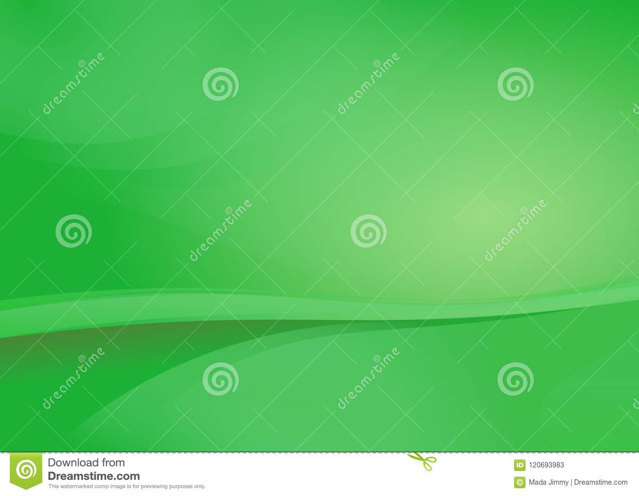 Green Curve Abstract Background Vector