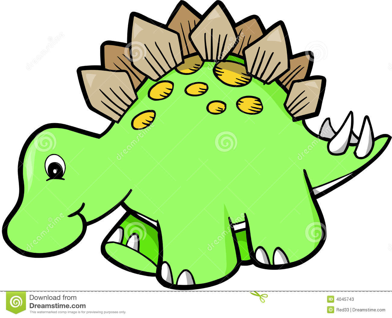 green cute dinosaur stock vector illustration of character 4045743 rh dreamstime com cute dinosaur clipart black and white