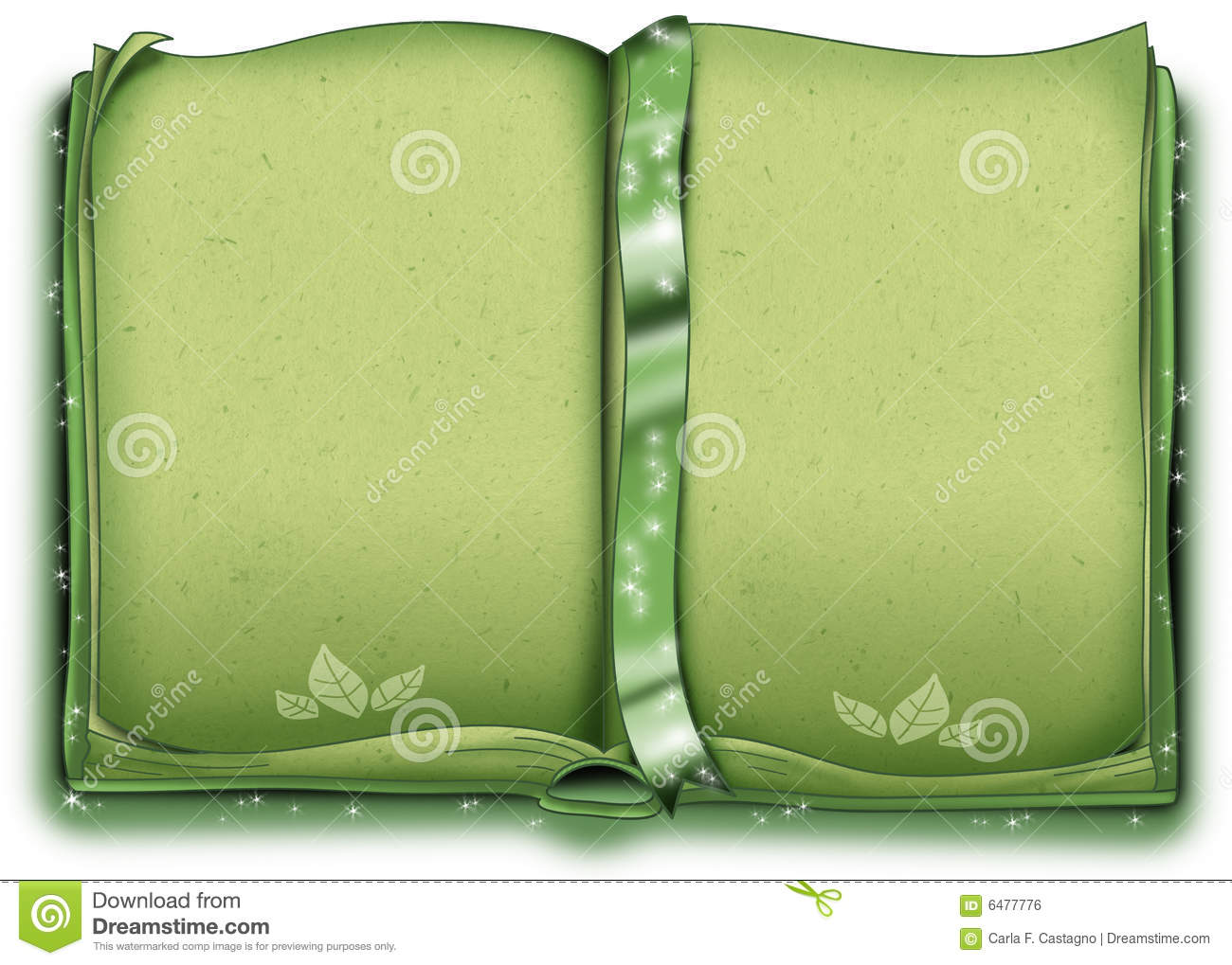 Green decorated book