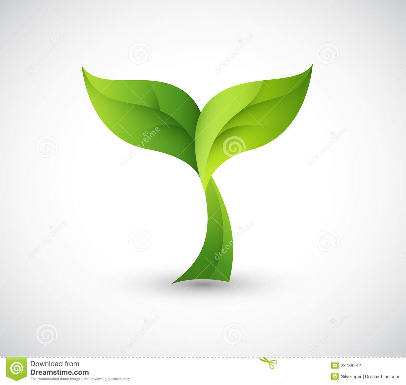 Green design logo stock photography image 28736242 Green plans