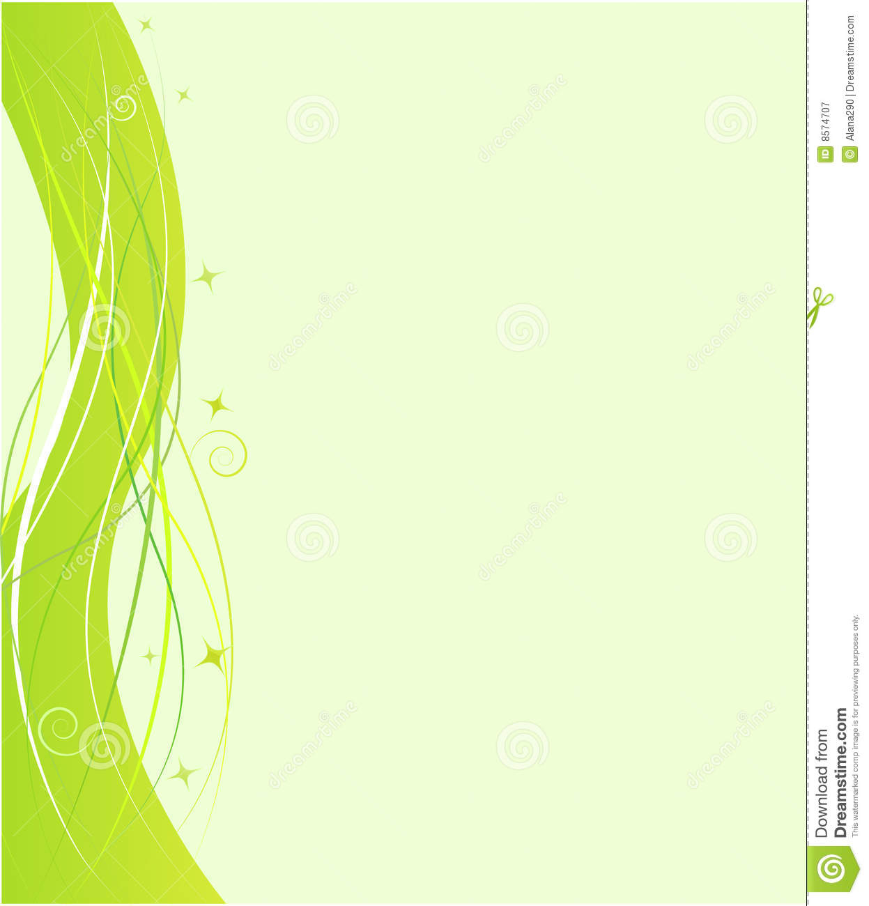 Green design template with swirl ornament stock vector Green plans