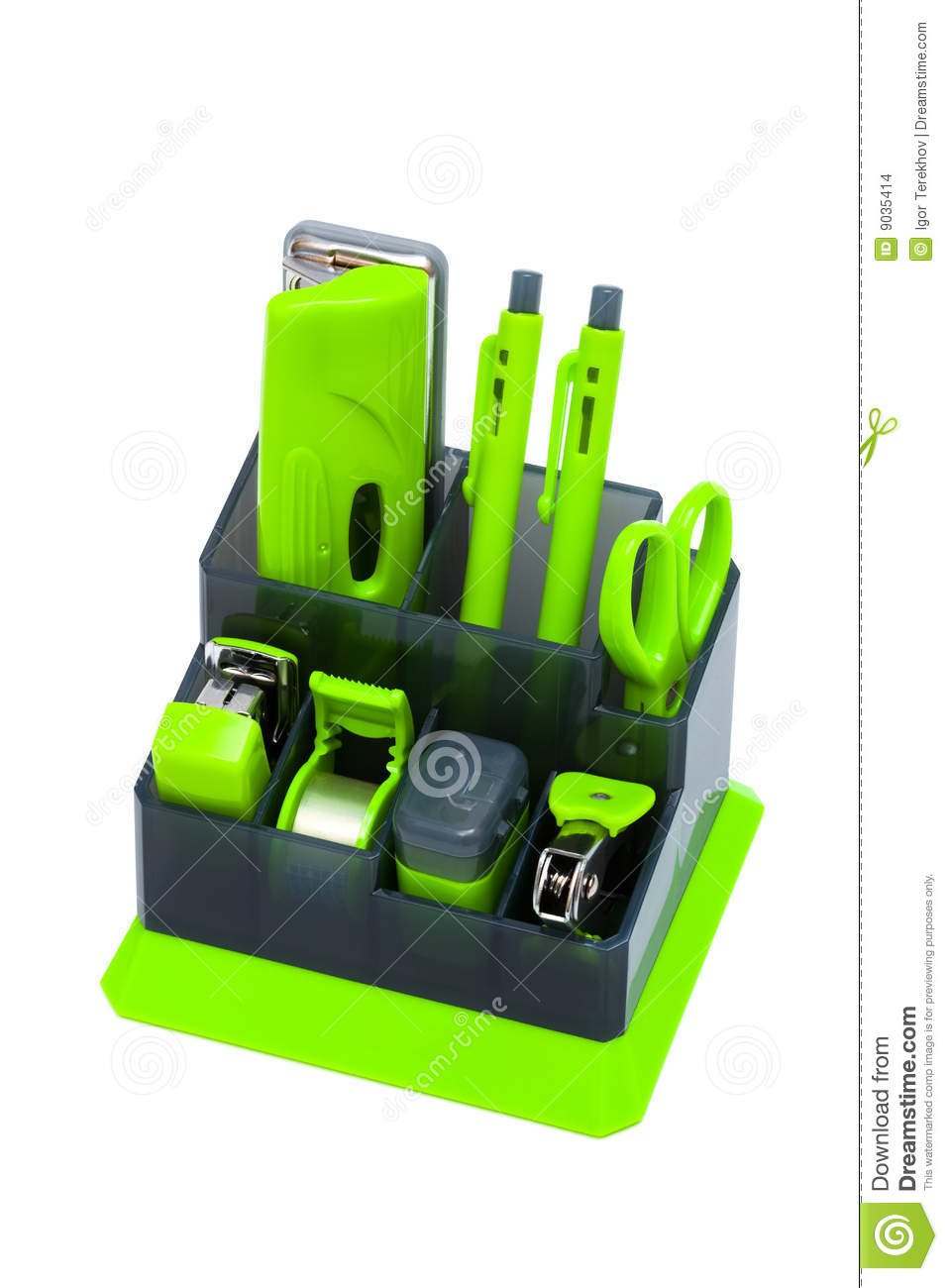 More similar stock images of ` Green desk organizer `