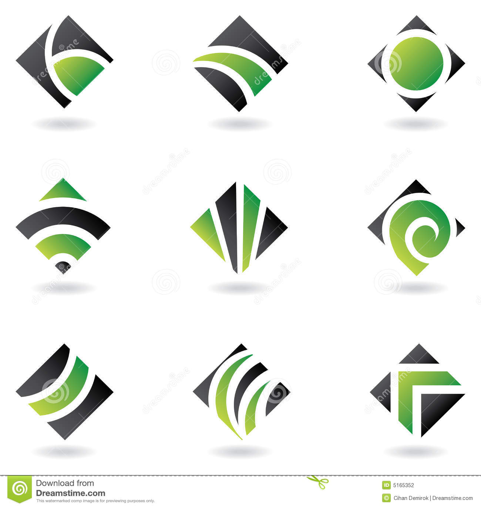 Green diamond logos
