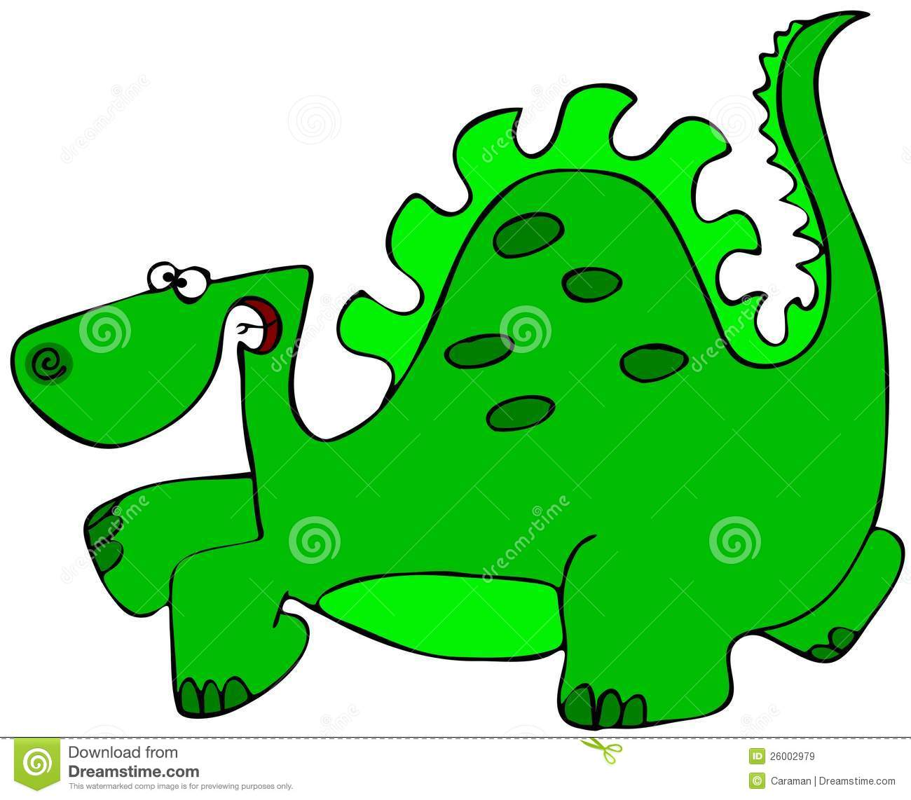 Green Dinosaur Royalty Free Stock Images - Image: 26002979