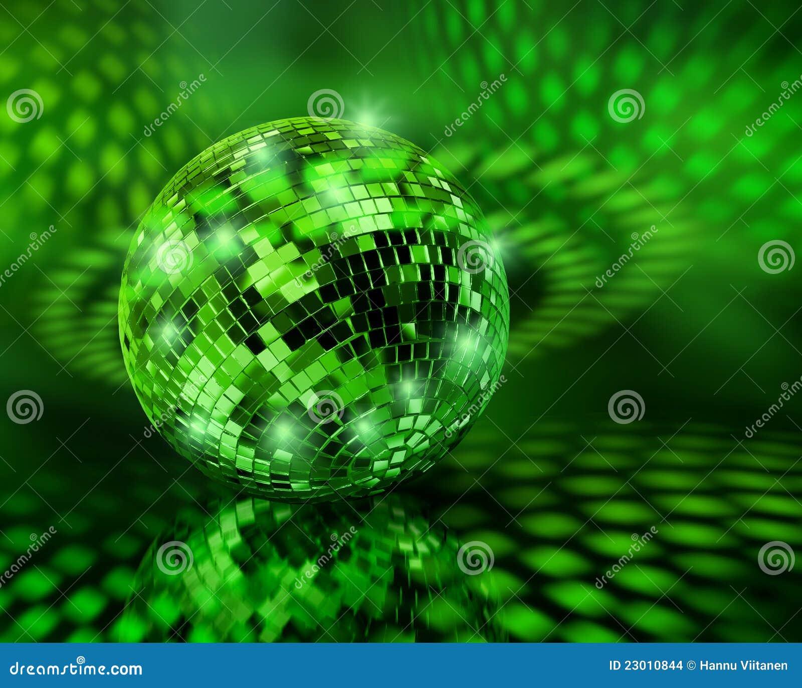 Green disco ball globe stock photo. Image of nightlife ...