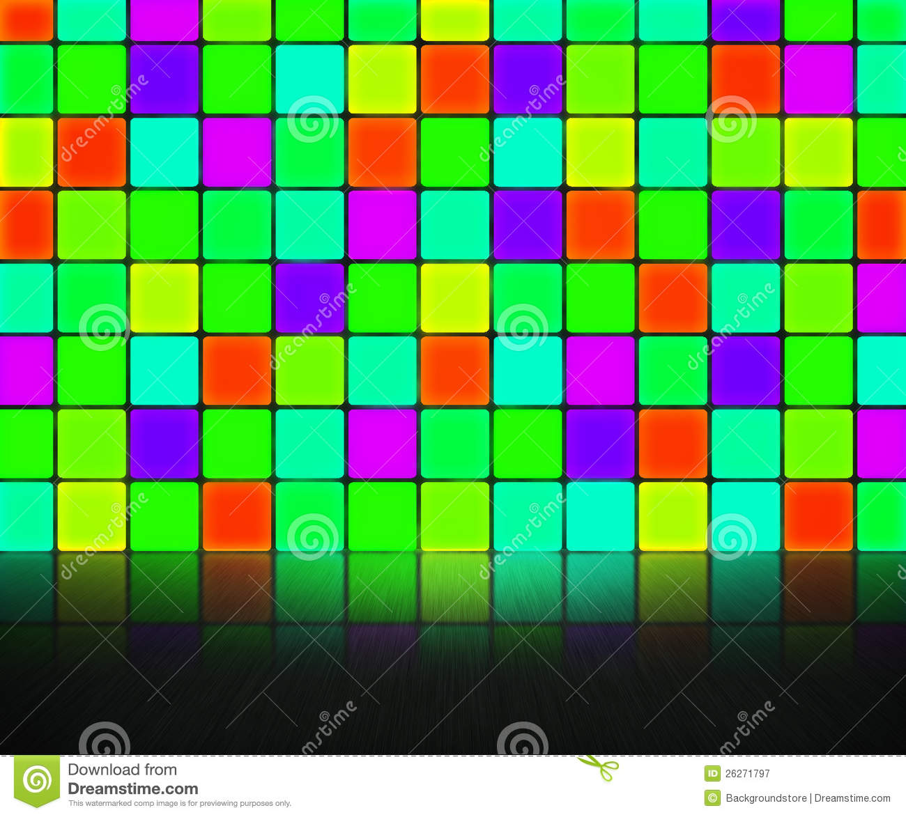 Disco lights on a colorful wall wallpaper - Digital Art wallpapers ...