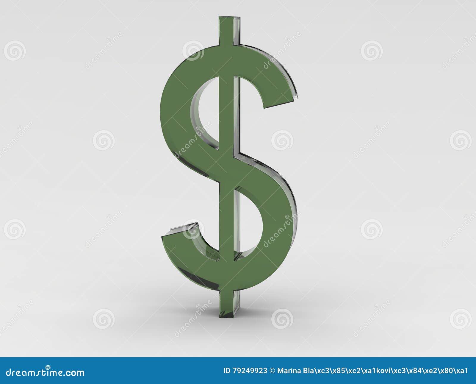 Green Dollar Symbol