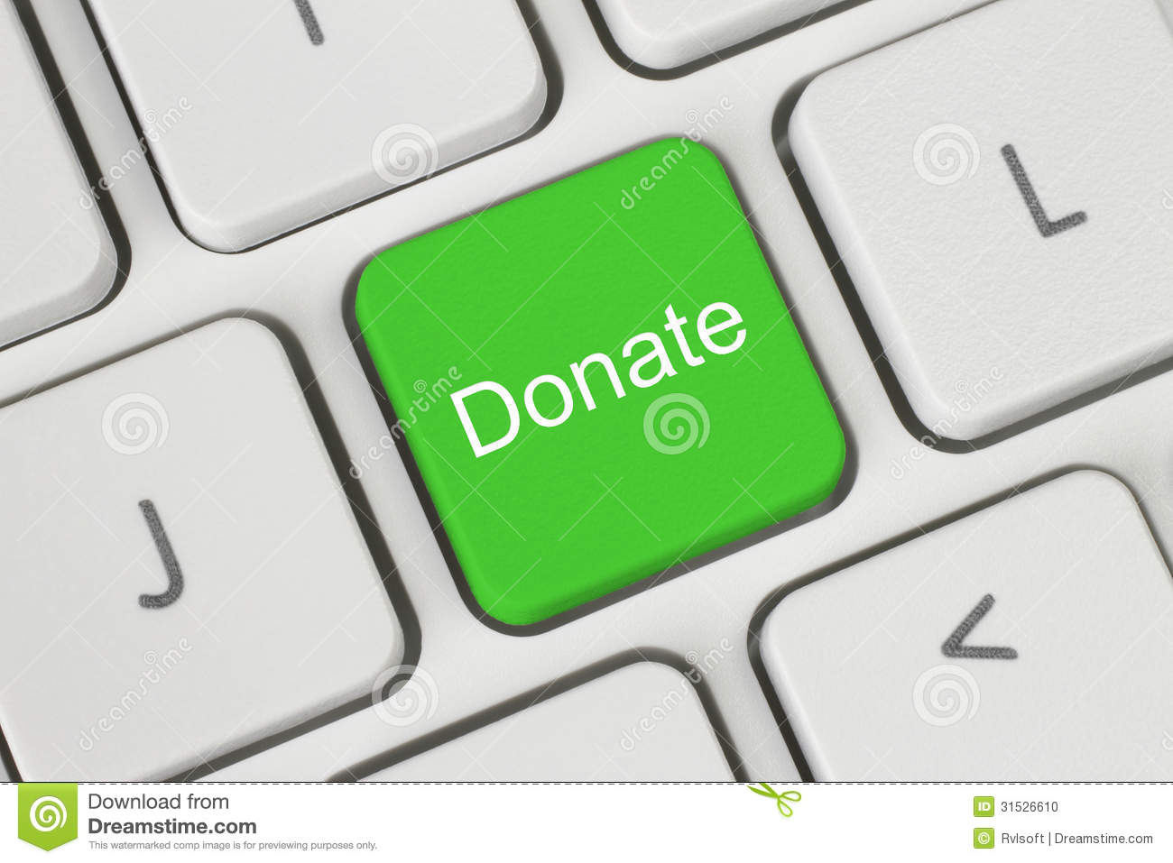 green donate button stock photo image 31526610