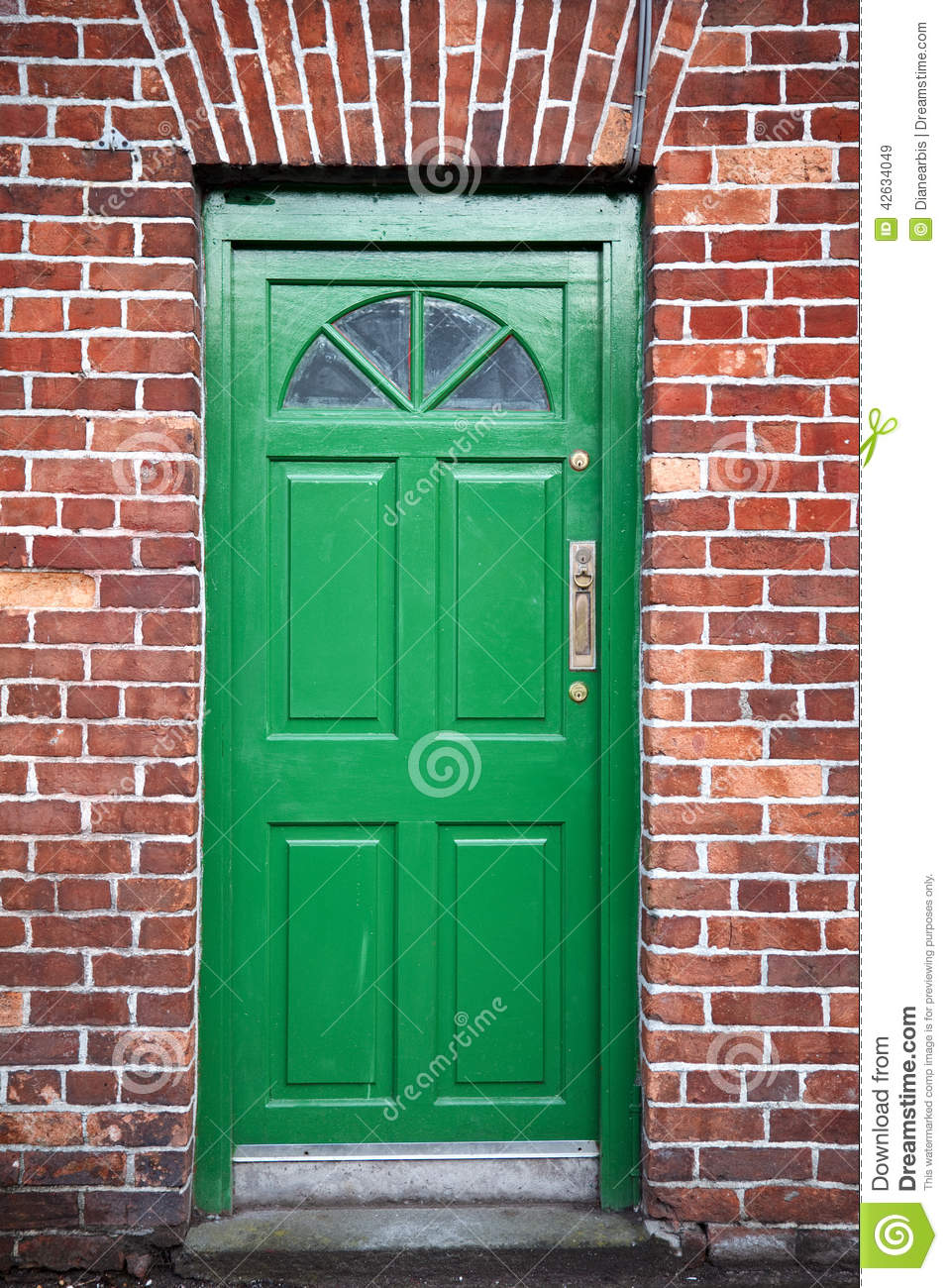 Green Door stock image. Image of lines, pattern, green ...