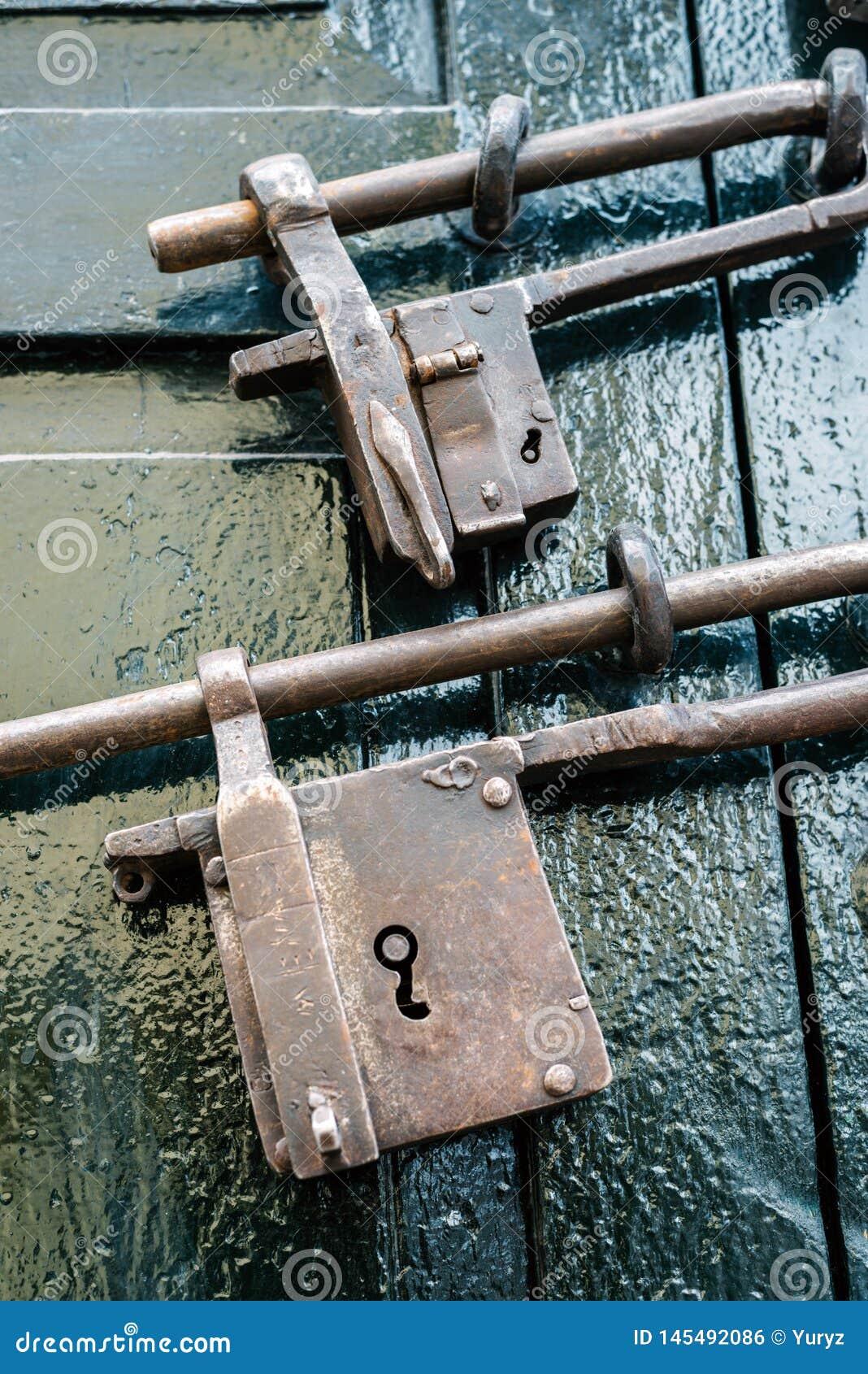 Two iron locks