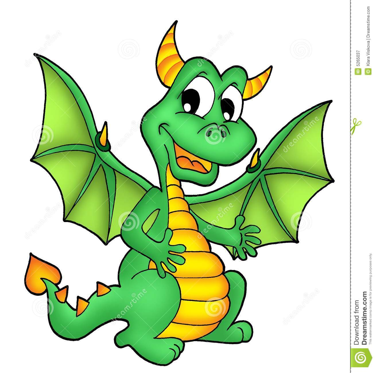 Green Dragon Royalty Free Stock Photography - Image: 5265037