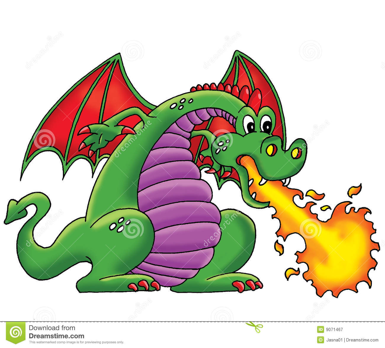 Green Dragon Royalty Free Stock Photography Image 9071467