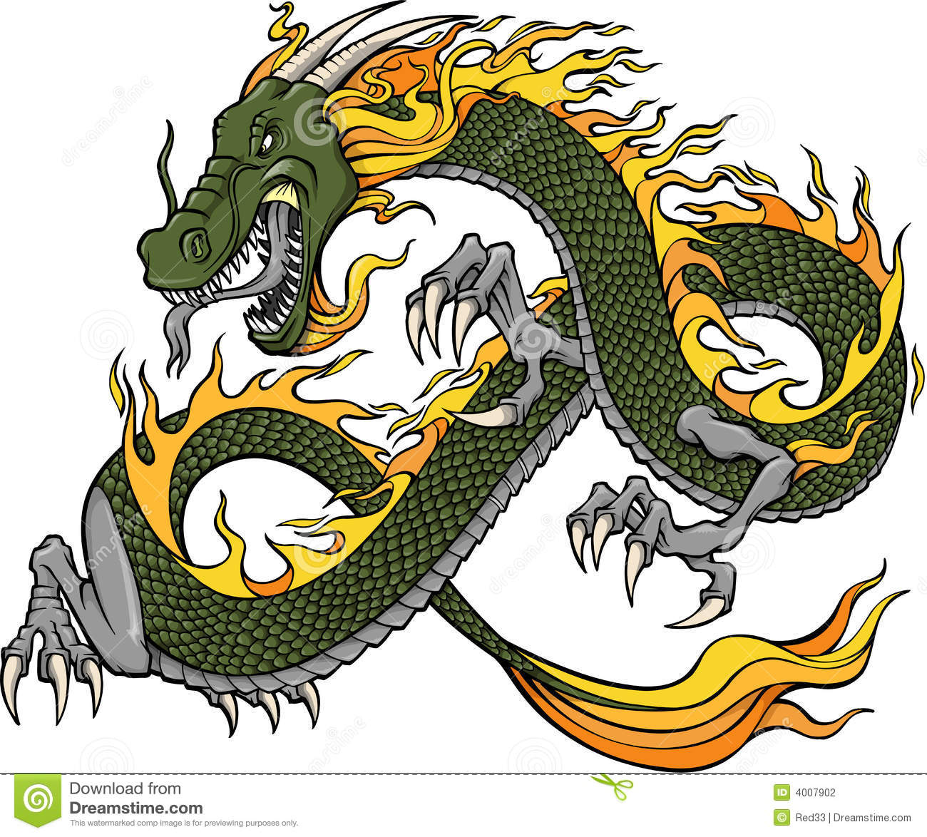 green dragon illustration stock photography image 4007902 chinese dragon head clipart oriental dragon clipart
