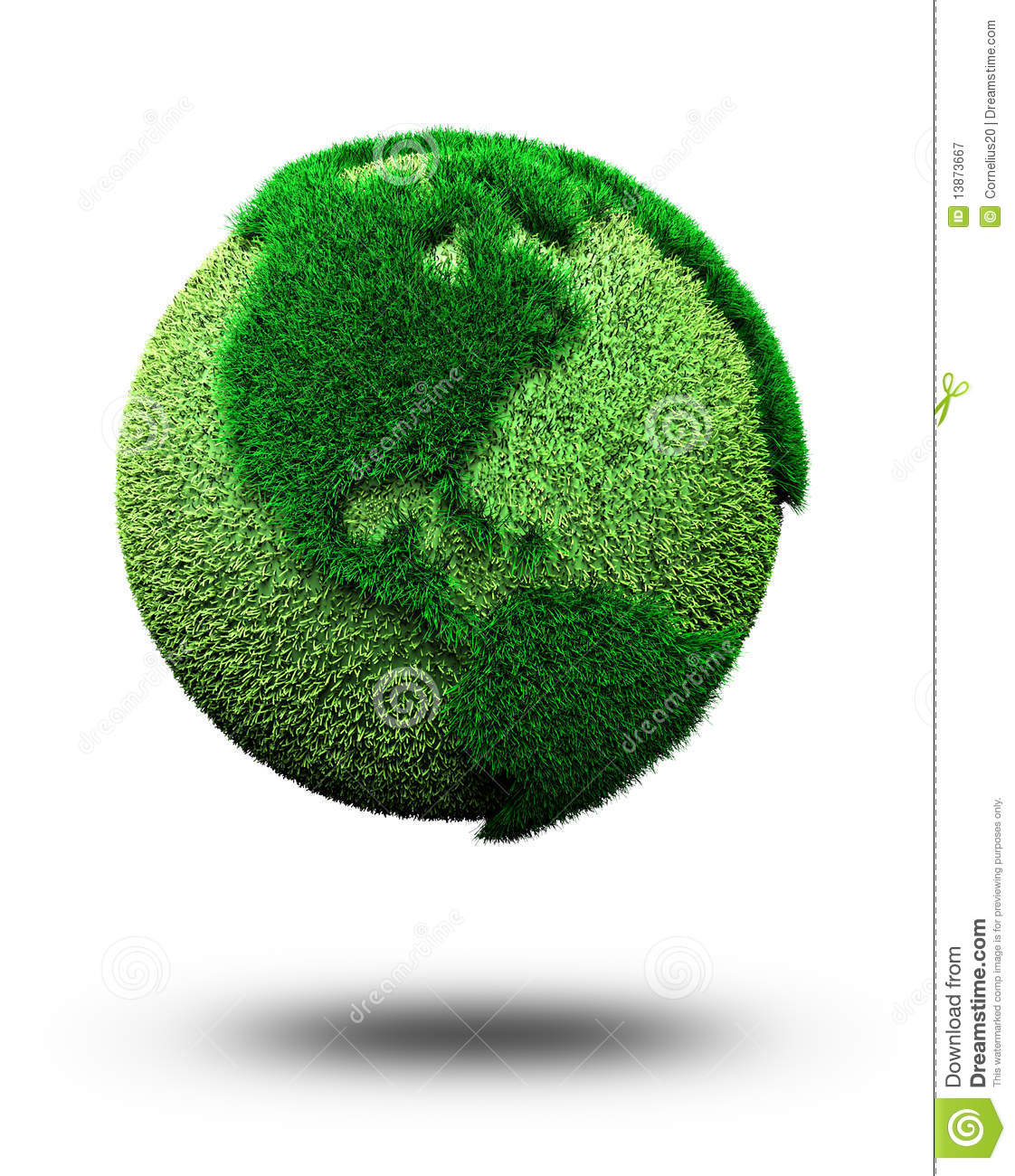 Green Earth Royalty Free Stock Photography - Image: 13873667