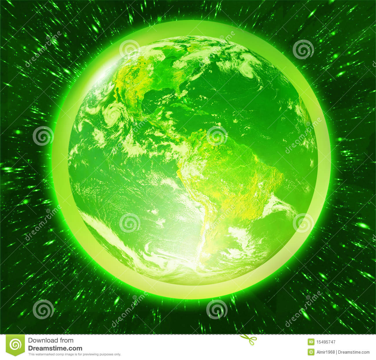 Green Earth Royalty Free Stock Photography - Image: 15495747