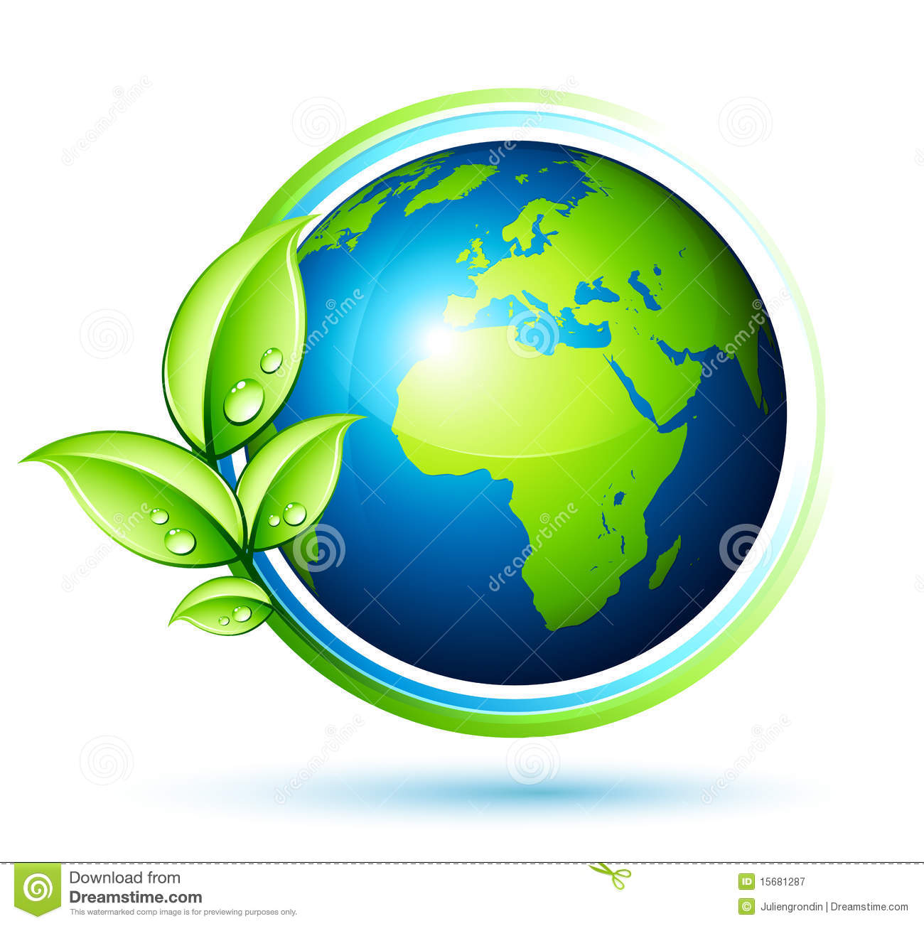 Green Earth Royalty Free Stock Photography - Image: 15681287