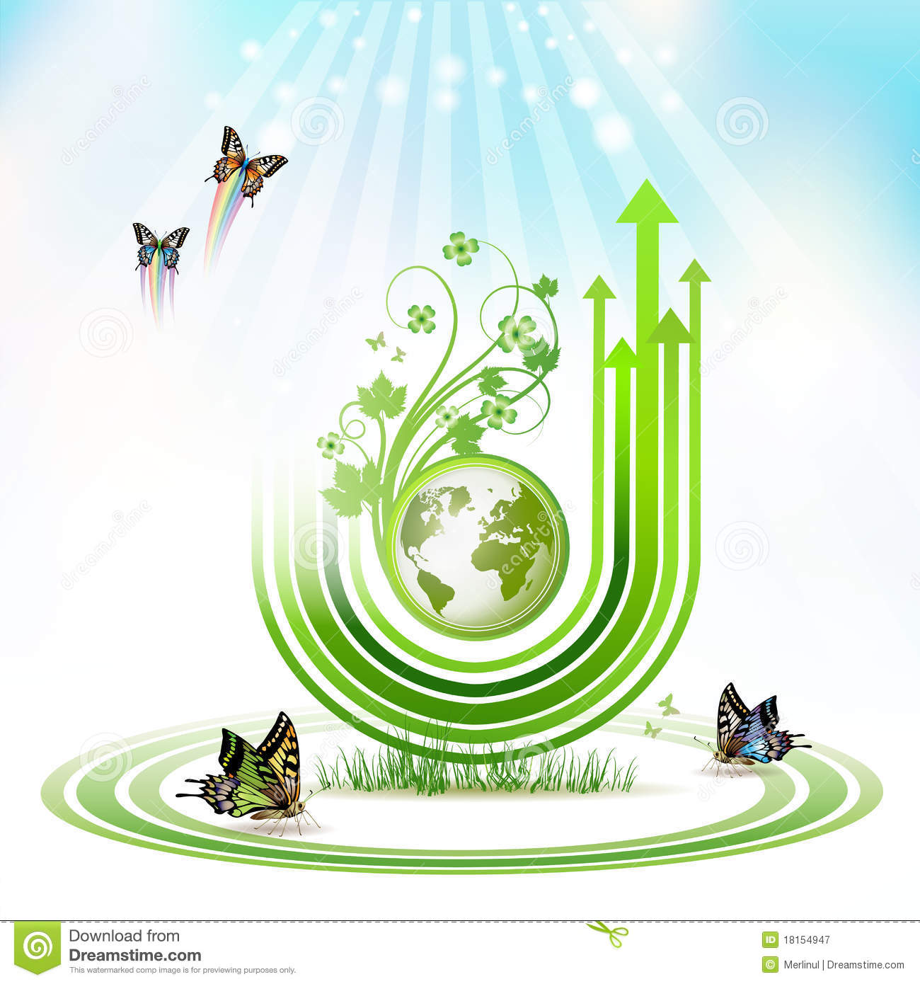 Green Earth Royalty Free Stock Photography - Image: 18154947