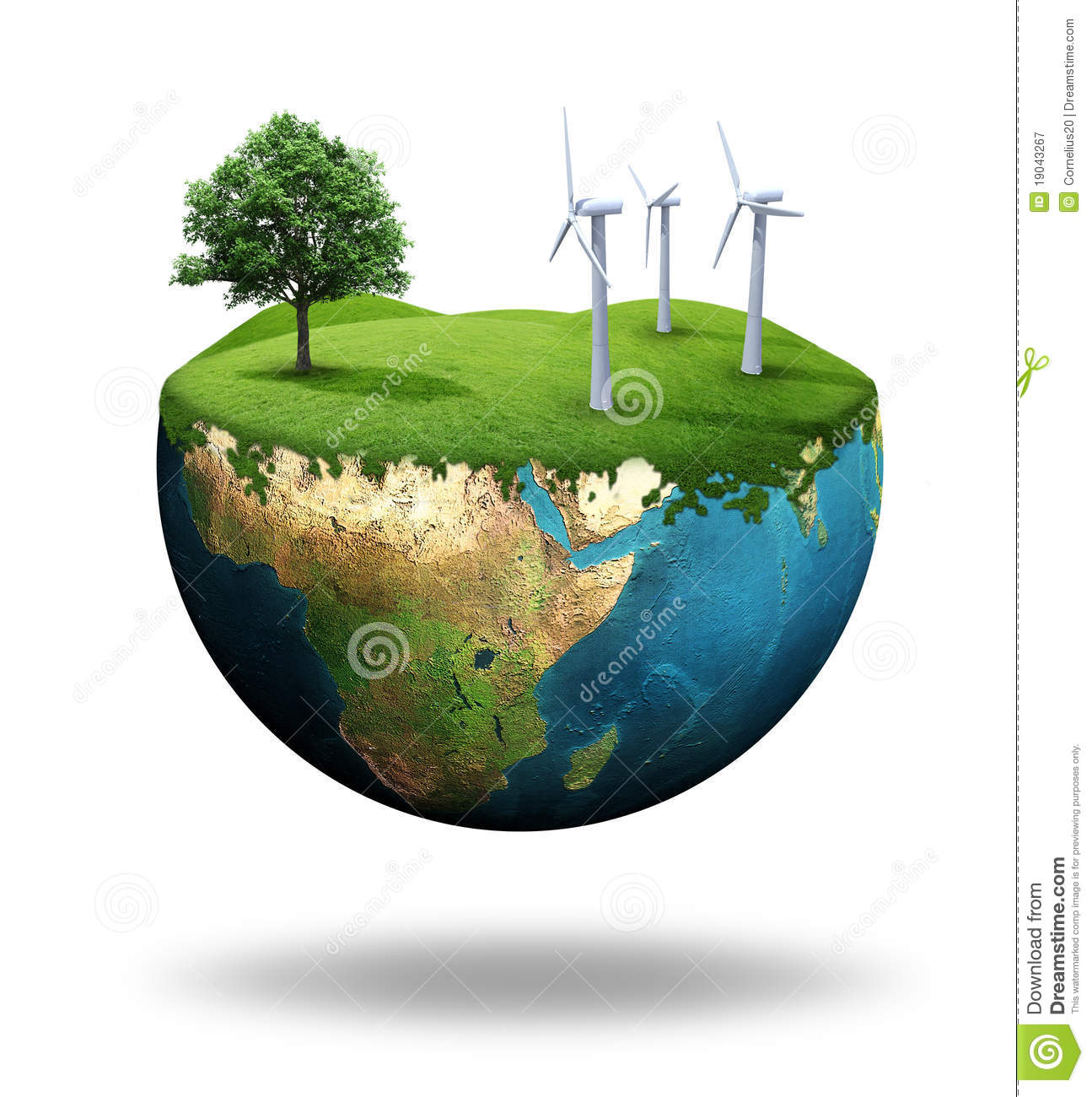 Green Earth Royalty Free Stock Photography - Image: 19043267