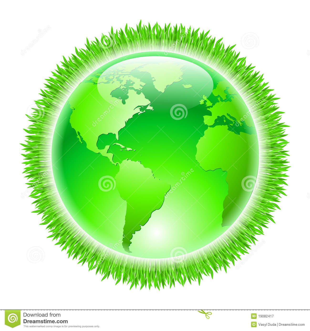 Green Earth Royalty Free Stock Photography - Image: 19082417