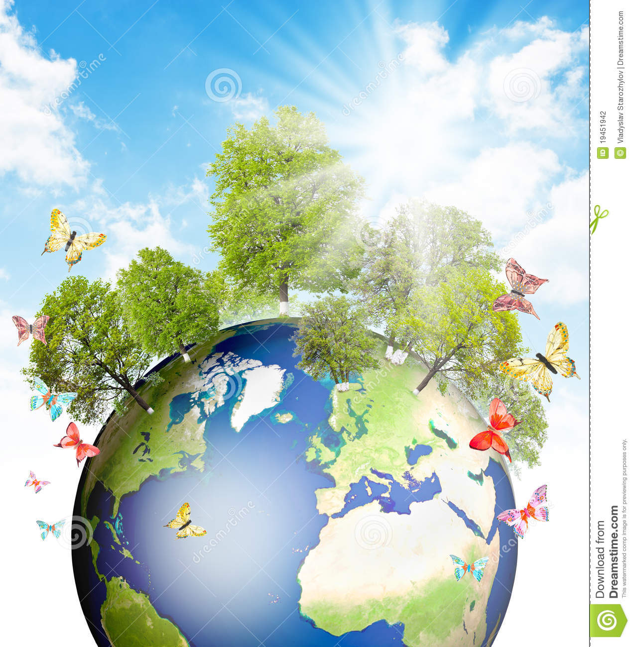 Green Earth. Stock Photography | CartoonDealer.com #19451942