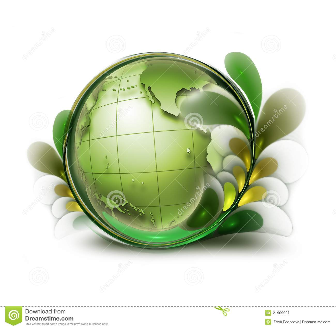 Green Earth Royalty Free Stock Photography - Image: 21909927