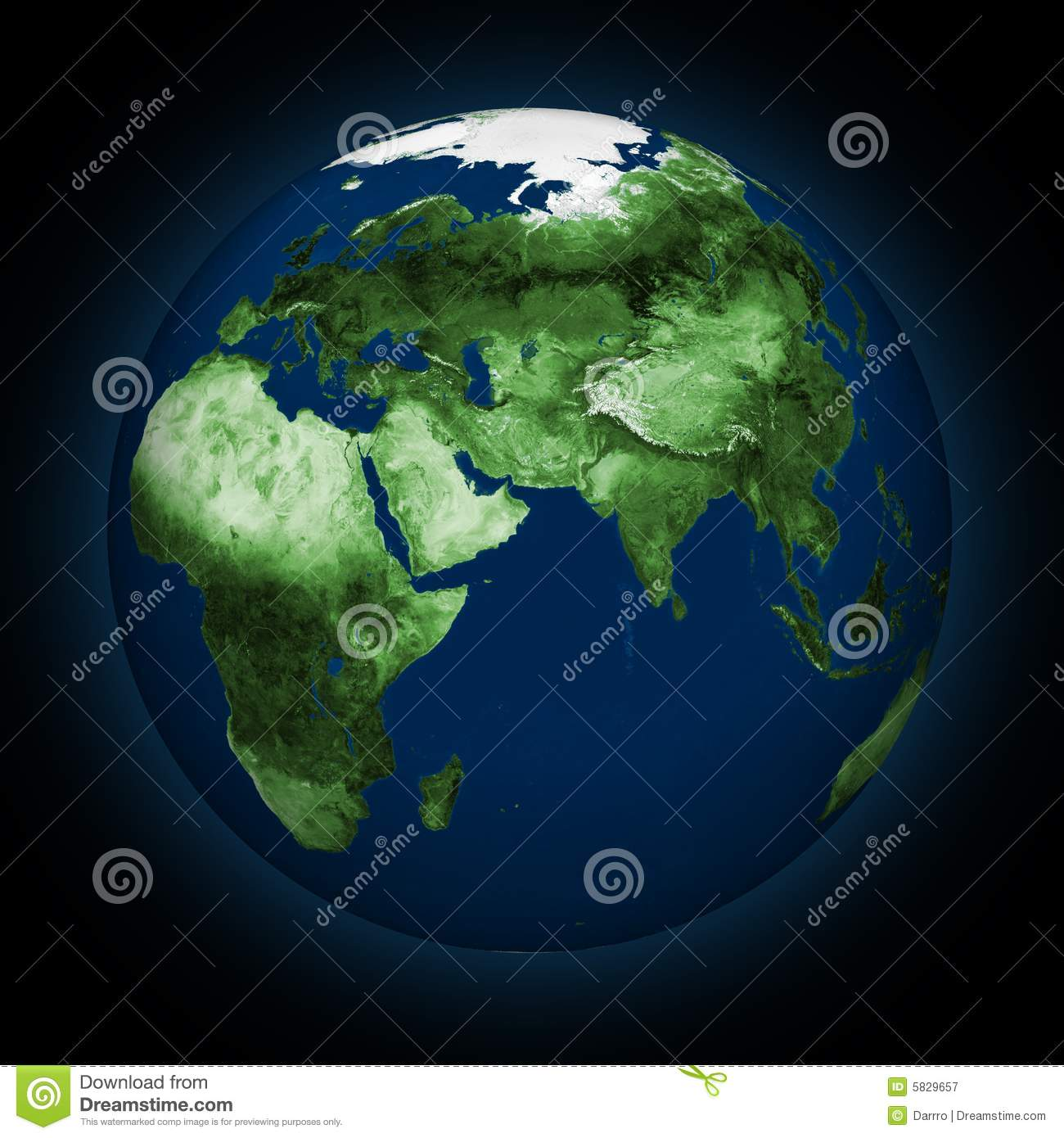 Green Earth Royalty Free Stock Photography - Image: 5829657