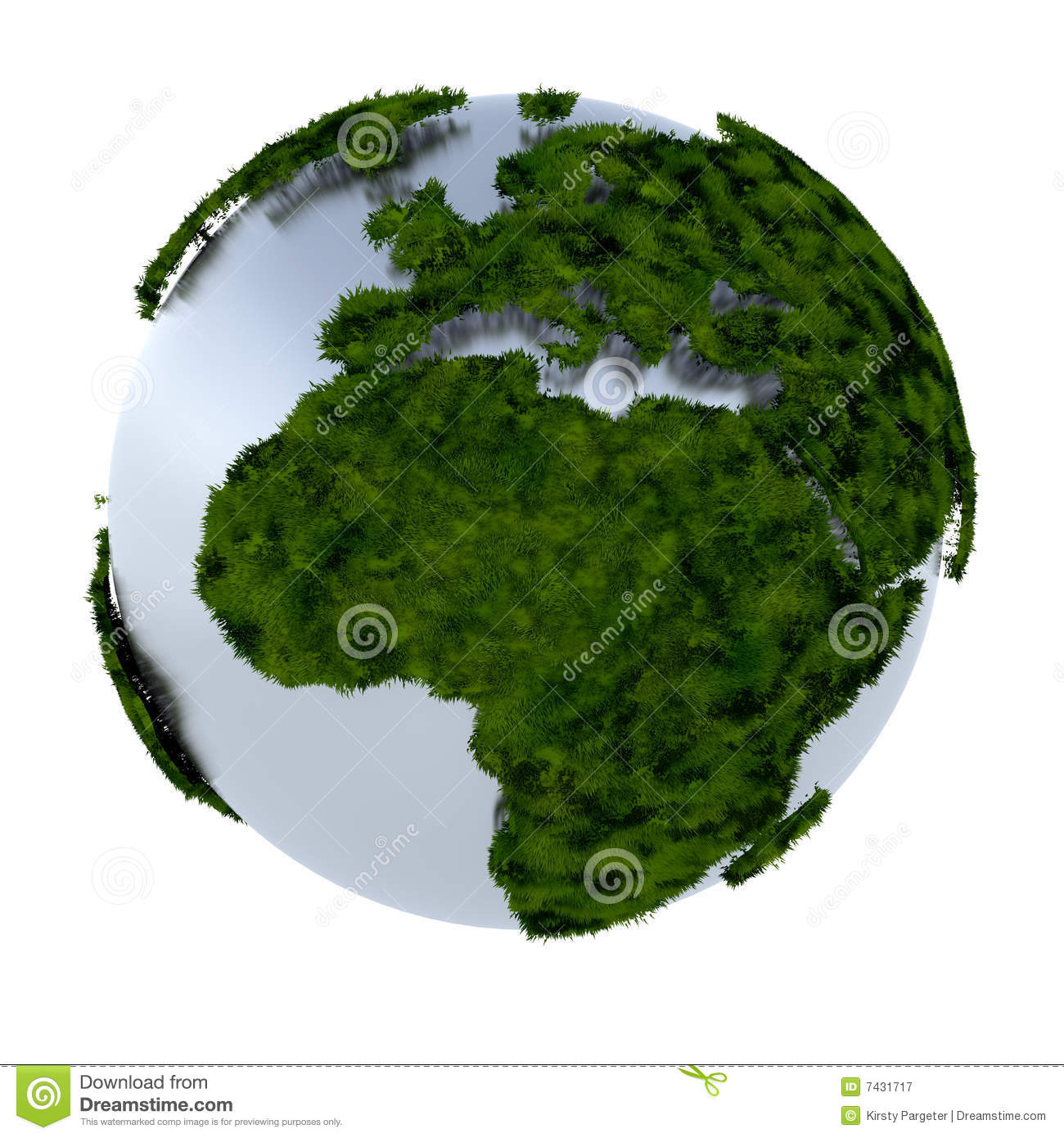 Green Earth Royalty Free Stock Photography - Image: 7431717