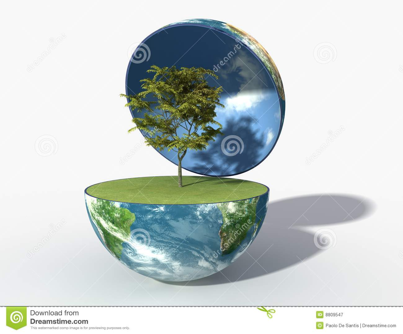 Green Earth Royalty Free Stock Photography - Image: 8809547