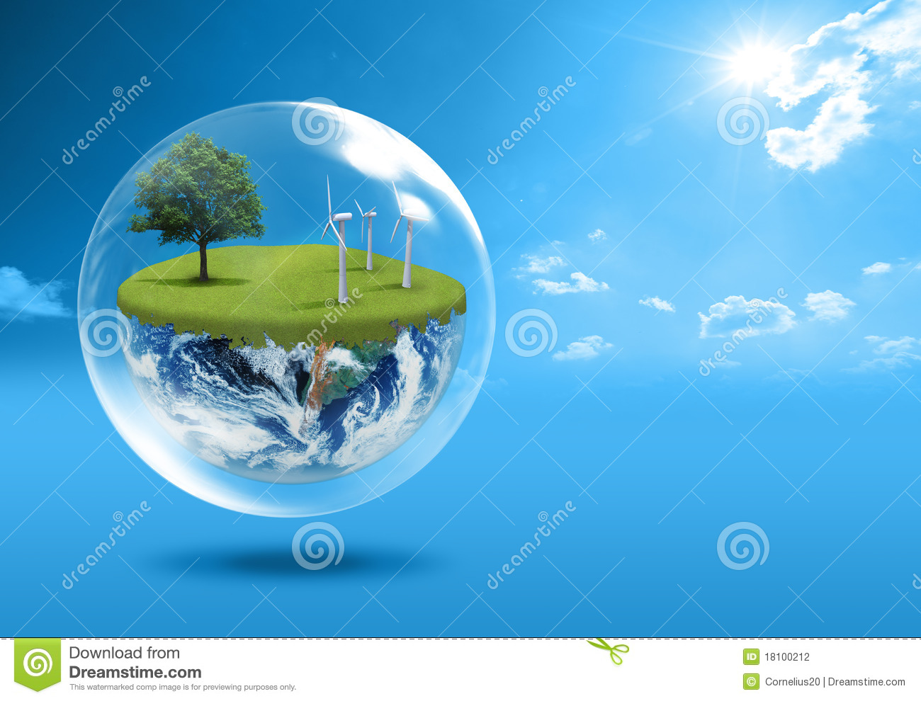 Green Earth Concept Stock Photography - Image: 18100212