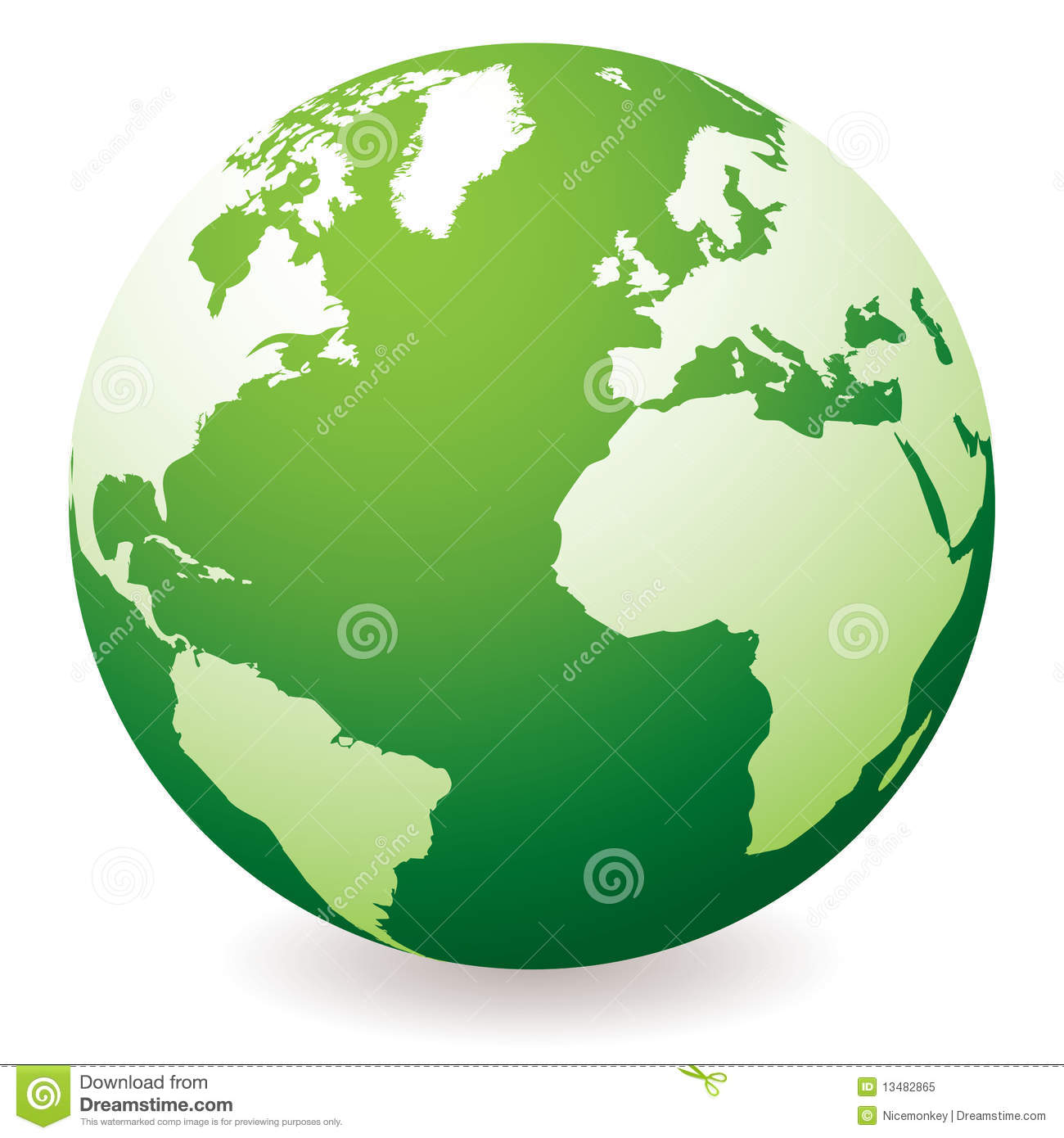 green earth globe royalty free stock photo image 13482865 Free Sun Clip Art Sunrise Service Clip Art Free