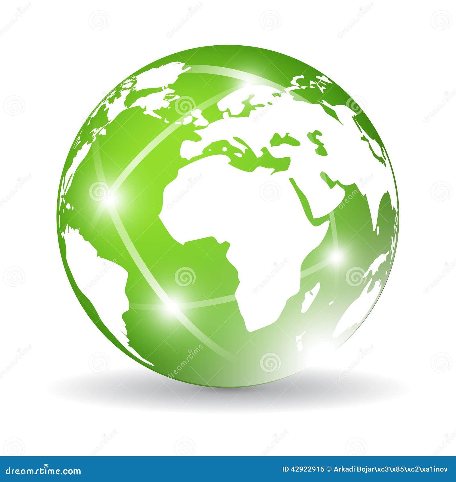 Green Earth Icon Stock Vector