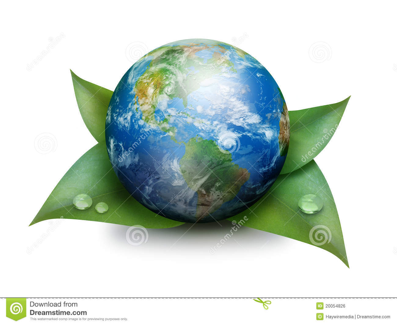 green earth on leaves isolated on white royalty free stock Globe Icon Blue Globe Logo Vector